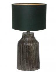 Tischlampe aus Metall mit Grüne Schirm-9290ZW