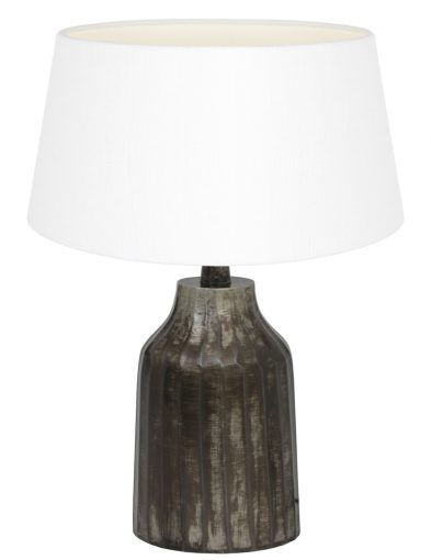 Tischlampe aus Metall mit Weiße schirm-9289ZW