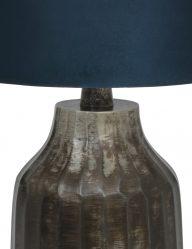 Tischlampe-aus-gebürstet-Metall-mit-Blaue-schirm-9288ZW-1