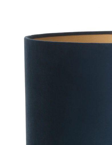 Tischlampe-aus-gebürstet-Metall-mit-Blaue-schirm-9288ZW-2