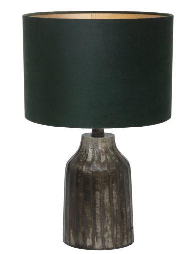 Tischlampe aus gebürstet Metall mit Grün schirm-9287ZW