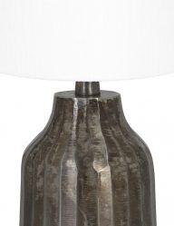 Tischlampe-aus-gebürstet-Metall-mit-Weiße-schirm-9286ZW-1