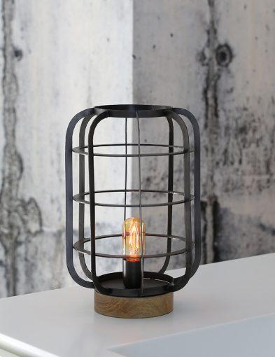 Tischlampe im ländlichen Design aus Holz-1915ZW