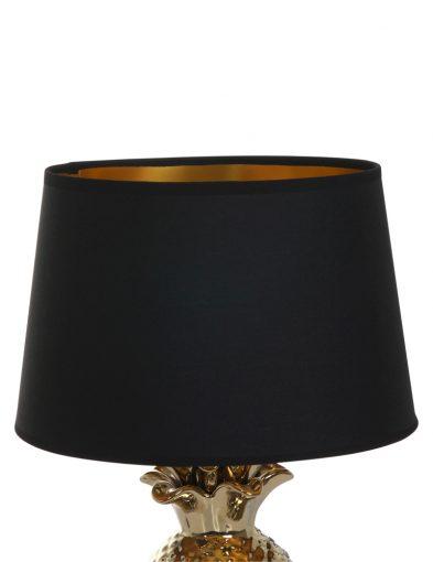 Tischleuchte-Ananas-mit-Schwarzem-Lampenschirm-1644GO-3