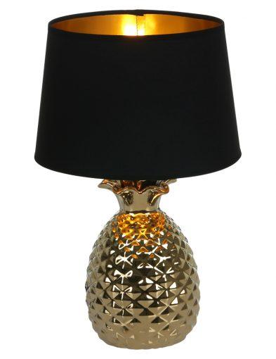 Tischleuchte-Ananas-mit-Schwarzem-Lampenschirm-1644GO-4