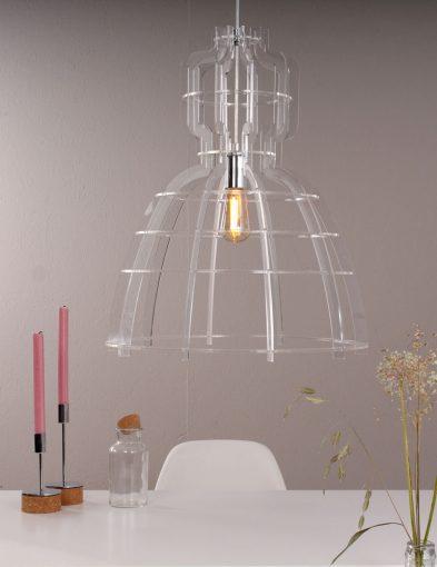 Transparente Tischleuchte Trans Plexiglas-1485CH