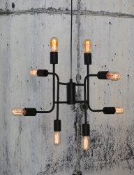 Verspielte Multi-Light Hängelampe Schwarz-2015ZW
