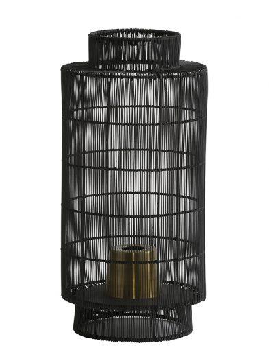 Verspielte Schwarze Tischlampe-1925ZW