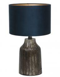 Vintage Tischlampe mit Blaue Schirm-9281ZW