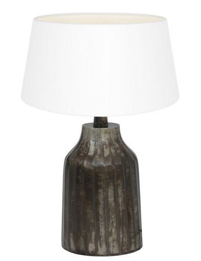 Vintage Tischlampe mit Weiße Schirm-9282ZW