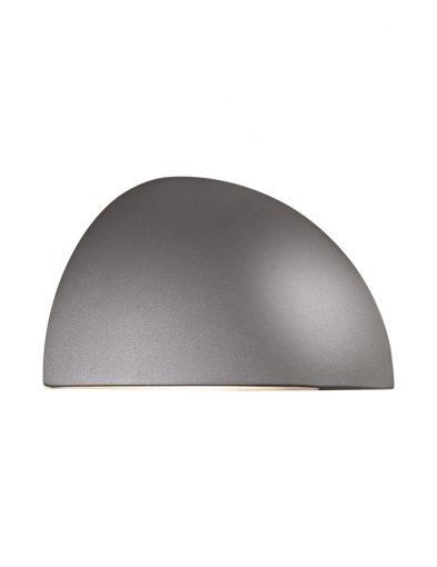 Wandlampe außen grau-2338GR