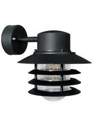 Wandlampe außen retro schwarz-2399ZW