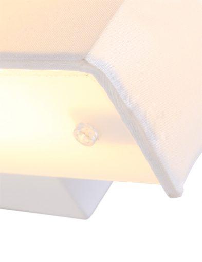 Wandleuchte-aus-Stoff-Weiß-1601W-2