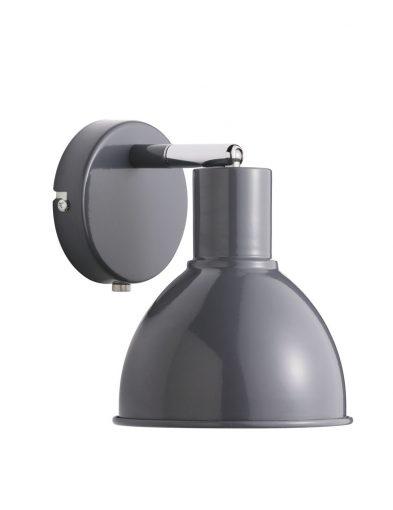 Wandleuchte grau mit schalter-2348GR