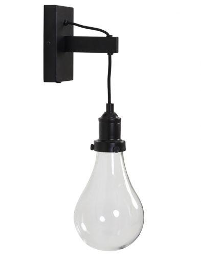 Wandleuchte schwarz vintage-2046ZW