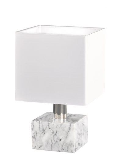 Weiße Tischlampe mit Marmorsockel-1789W