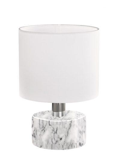 Weiße Tischlampe mit Marmorsockel-1852W