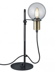 Weiden-Tischlampe Gold mit Schwarzem-1658ZW
