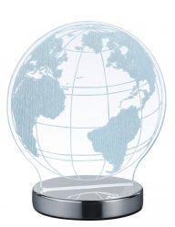 Weltkugel Tischleuchte transparent-1845CH