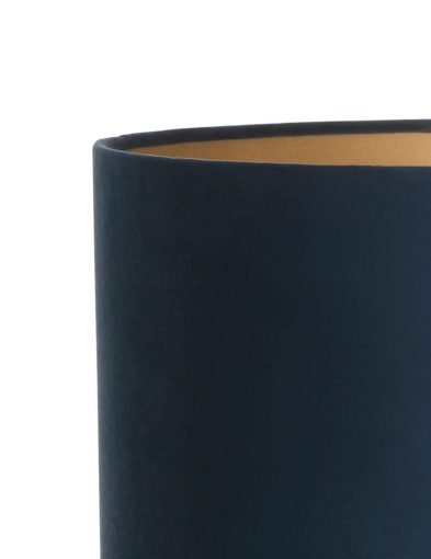 Zylinder-Blaue-samt-lampenschirm-K6027ZS-1