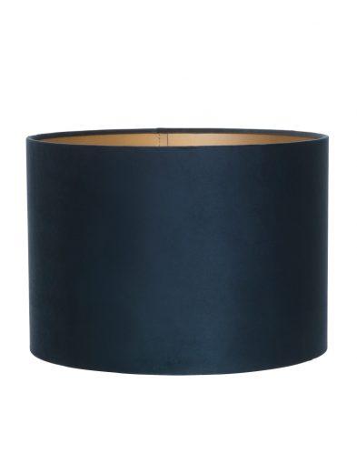 Zylinder Blaue samt lampenschirm-K6027ZS