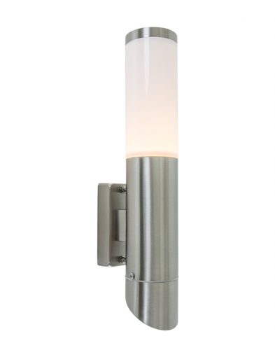 aussen wandleuchte stahl opalglas spritzwasserdicht-8579st