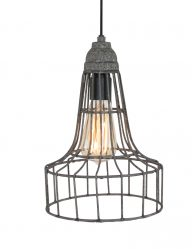 drahtlampe grau-8956gr