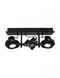 feste deckenlampe mit drei leuchten schwarz-7551zw