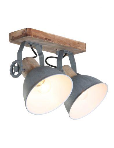 feste deckenleuchte mit zwei lampen grau-7969gr