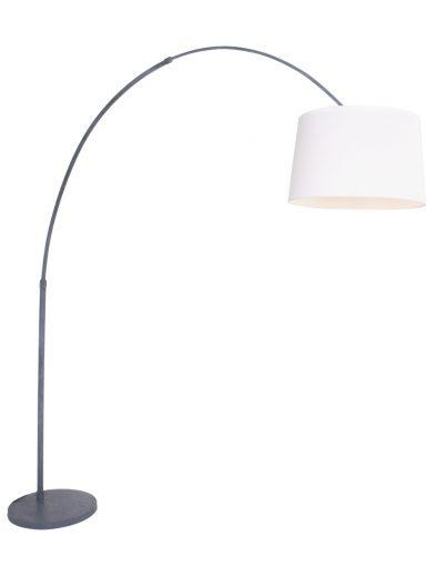 graue bogenlampe grau weiss-9910gr