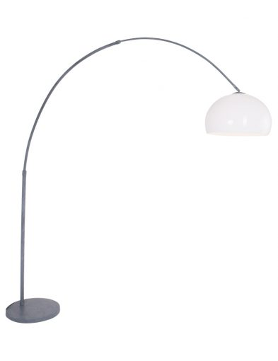 minimalistische bogenlampe grau weiss-9914gr