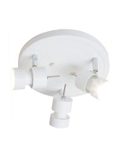 minimalistische deckenlampe mit drei leuchten weiss-7905w