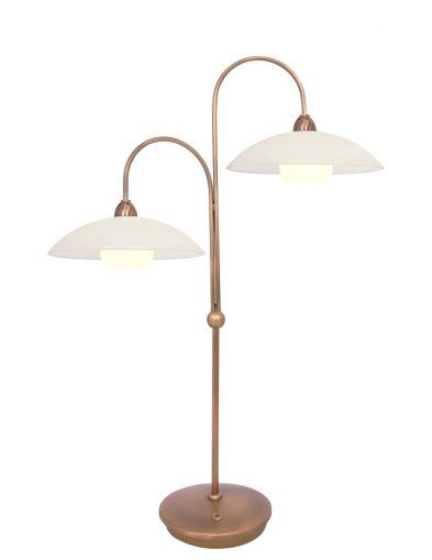 tischlampe mit zwei leuchten bronze-7927br