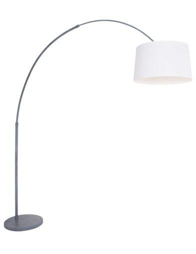 verstellbare bogenlampe grau weiss-9911gr