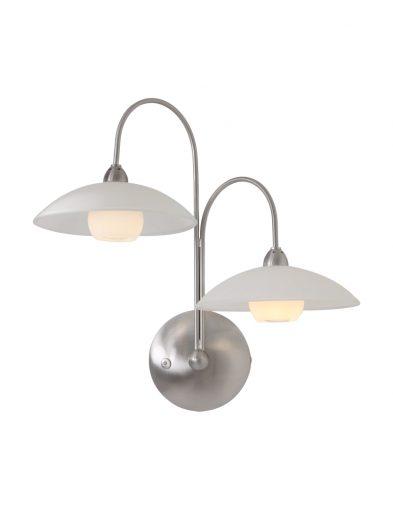 wandlampe mit zwei leuchten stahl-7925st