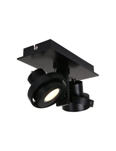 zweispottige deckenlampe schwarz-7550zw