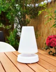 Outdoor Tischlampe weiß