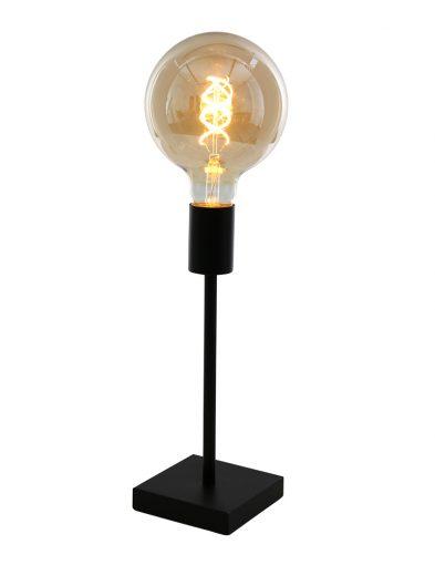Industrie Tischlampe Mexlite Minimalics mattschwarz-2702ZW