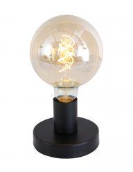 Schwarze Tischlampe Mexlite Minimalics mattschwarz-2703ZW
