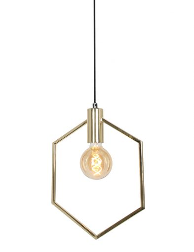 Sechseckige Pendelleuchte Light & Living Aina gold-2862GO