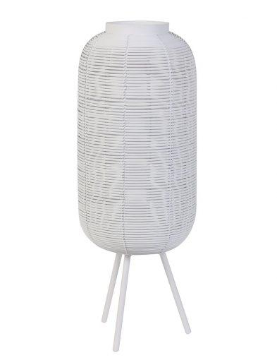 Tischlampe Rattan Light & Living Tomek weiß-2907W