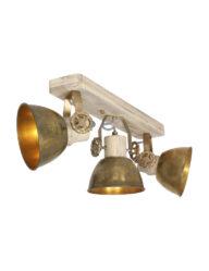 3-flammige Deckenleuchte industriell bronze-2133BR