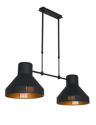 Industrielle Hängeleuchte schwarz gold-2568ZW