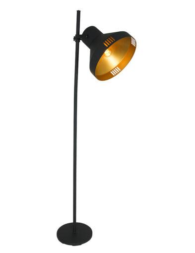 Stehleuchte industriell schwarz gold-2569ZW
