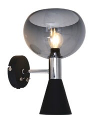 Moderne Wandleuchte Rauchglas-2570ZW