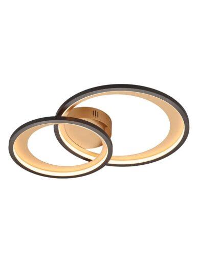 Deckenleuchte mit Ringen schwarz-2632ZW
