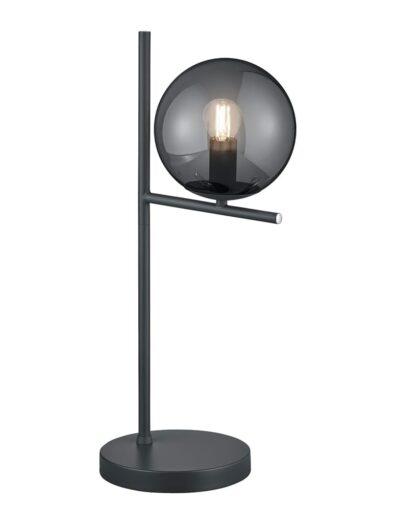 Moderne Tischleuchte Rauchglas schwarz-2645A