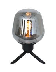 Stativtischleuchte Rauchglas schwarz-2683ZW