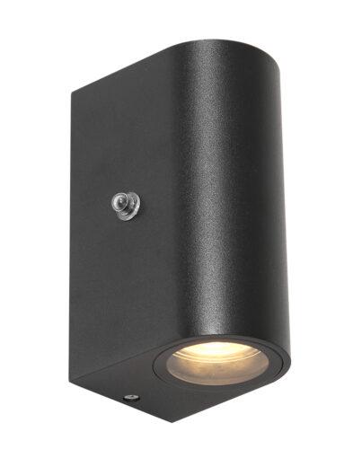 Außenwandleuchte halbrund schwarz-2720ZW