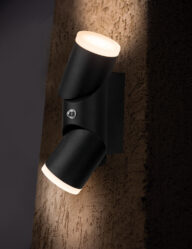 Zweiflammige Außenwandleuchte LED schwarz-2722ZW